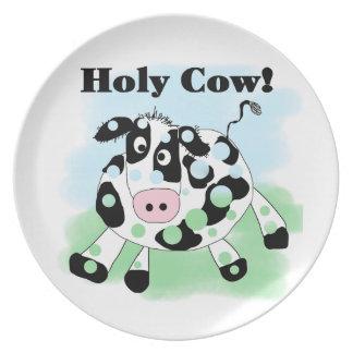 Vaca santa plato para fiesta