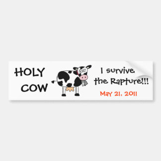 Vaca santa sobreviví a la pegatina para el paracho pegatina para auto