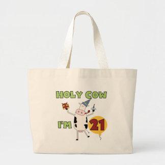 Vaca santa soy 21 camisetas y regalos del cumpleañ bolsa