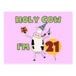 Vaca santa soy 21 camisetas y regalos del cumpleañ postal