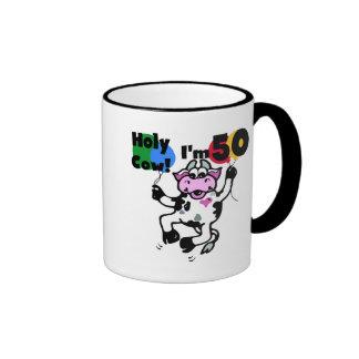 Vaca santa soy 50 camisetas y regalos taza de dos colores