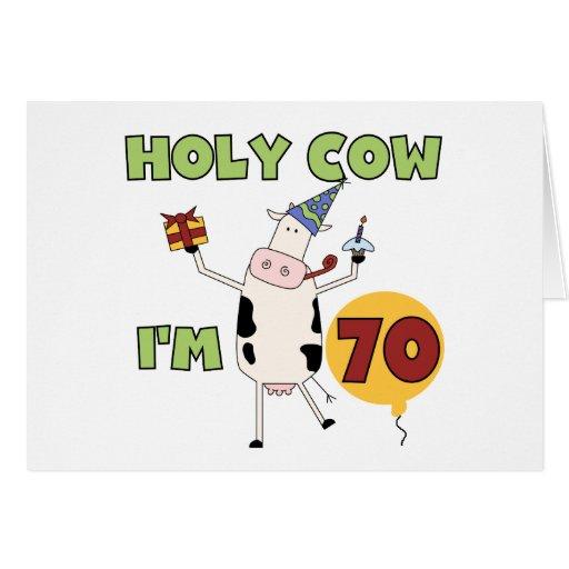 Vaca santa soy 70 camisetas y regalos del cumpleañ felicitaciones
