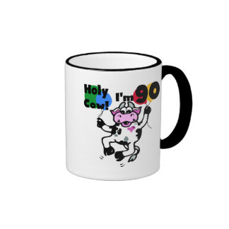 Vaca santa soy 90 camisetas y regalos taza de dos colores