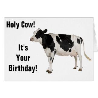 ¡Vaca santa! ¡Tarjeta de cumpleaños! Tarjeta De Felicitación