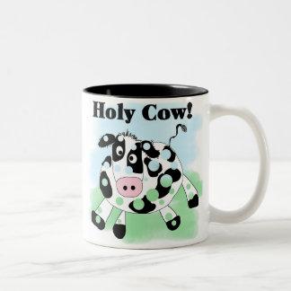 Vaca santa taza dos tonos