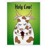 Vaca santa Ur de cumpleaños de la plantilla Tarjetas