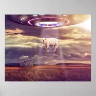 Vaca secuestrada por arte de la fantasía de los póster