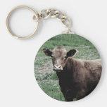 Vaca sola llaveros personalizados