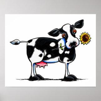 Vaca soleada póster