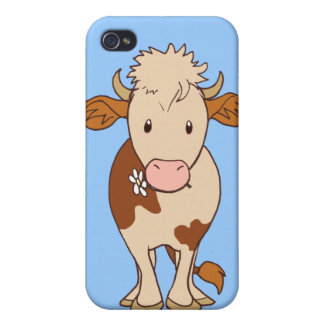 Vaca sonriente iPhone 4/4S carcasas
