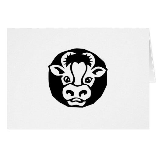 vaca tarjeta de felicitación