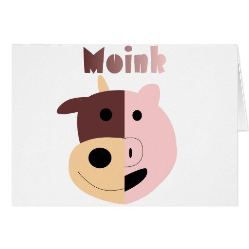 Vaca + Tarjeta del cerdo = de Moink