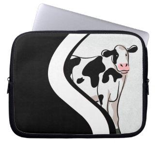Vaca tímida funda computadora