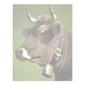 Vaca típica membretes personalizados