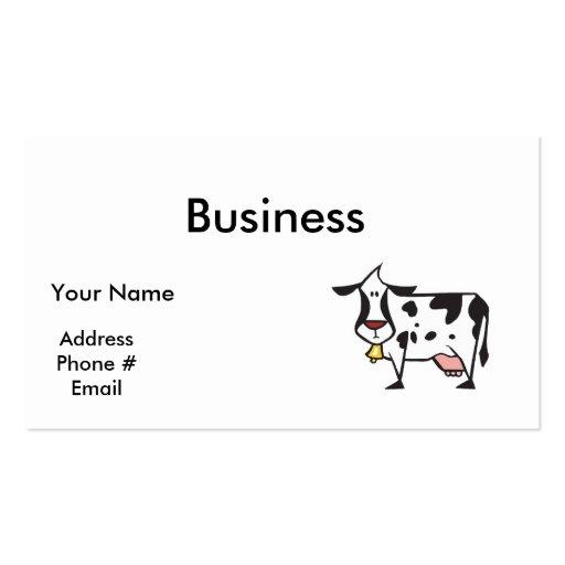 Vaca tonta tarjetas de visita