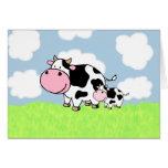 Vaca y bebé felicitacion