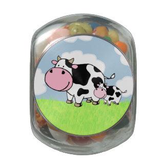 Vaca y bebé jarras de cristal jelly bely
