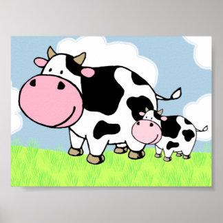 Vaca y bebé impresiones