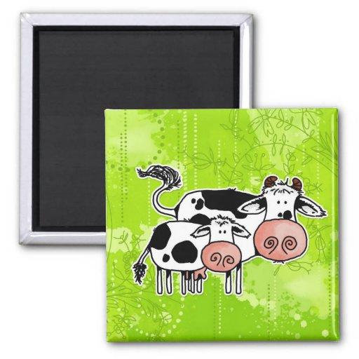 vaca y becerro iman para frigorífico