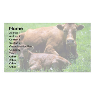 Vaca y becerro tarjetas de visita