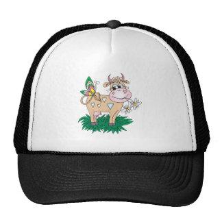 vaca y mariposa lindas gorras