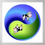 Vaca Yin Yang Impresiones