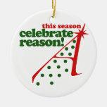 Vacaciones ateas ornamento para arbol de navidad