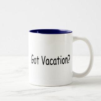 ¿Vacaciones conseguidas? Taza De Dos Tonos