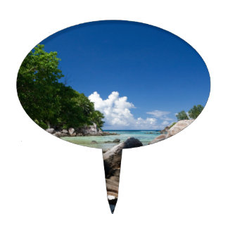 Vacaciones costeras de la playa de Naturescape Figura Para Tarta