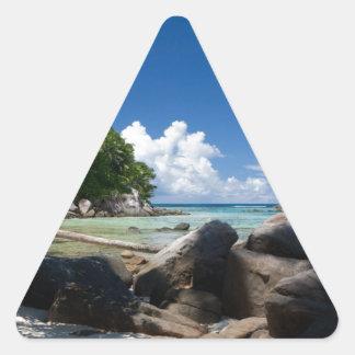 Vacaciones costeras de la playa de Naturescape Pegatina Triangular