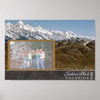 Vacaciones de familia de Jackson Hole Póster