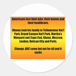 Vacaciones de familia de Obama Pegatina Redonda