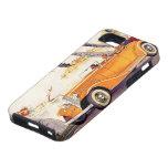 Vacaciones de familia del vintage en un coche iPhone 5 Case-Mate carcasas