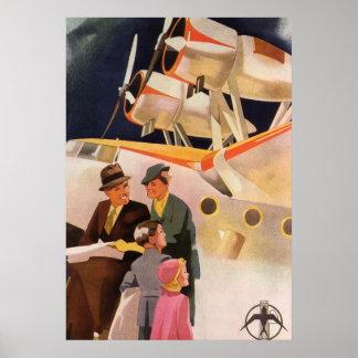 Vacaciones de familia del vintage vía los propulso poster