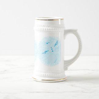 Vacaciones de invierno azules lindas Stein del muñ