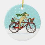 Vacaciones de invierno caprichosas de ciclo del pe adorno de navidad