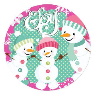 """Vacaciones de invierno de la alegría del muñeco de invitación 5.25"""" x 5.25"""""""