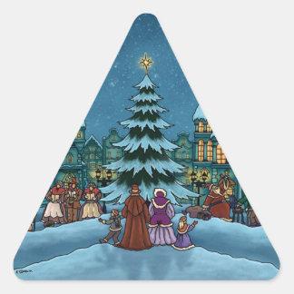 vacaciones de invierno de la ciudad del navidad colcomanias trianguladas personalizadas