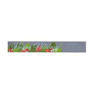 Vacaciones de invierno de la guirnalda del navidad etiquetas para remite