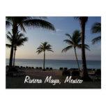 Vacaciones de la playa de Cancun México del maya d Tarjetas Postales