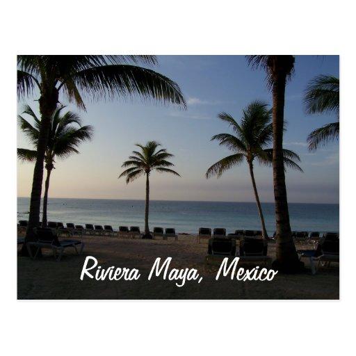 Vacaciones de la playa de Cancun México del maya Postales