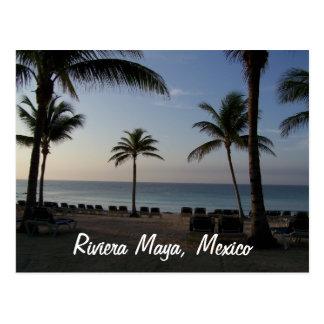 Vacaciones de la playa de Cancun México del maya Postal