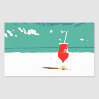 ¡Vacaciones de la playa! Pegatina Rectangular