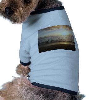 Vacaciones de la playa camiseta de mascota
