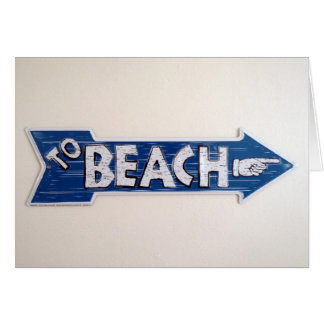vacaciones de la playa tarjeta de felicitación