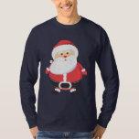 Vacaciones de las Felices Navidad de Papá Noel Playera