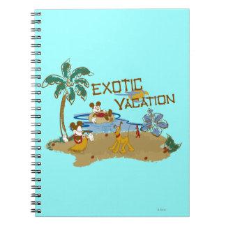 Vacaciones de Mickey Mouse Libretas