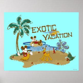 Vacaciones de Mickey y de los amigos el | Póster
