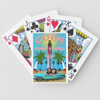 Vacaciones de primavera 1962 de Cuba Baraja Cartas De Poker