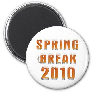 Vacaciones de primavera 2010 imán redondo 5 cm